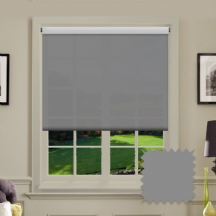Grey Roller Blind Bermuda Grey